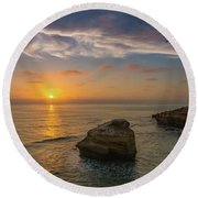 From Surf To Sky Round Beach Towel