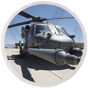 Front View Of A Hh-60g Pave Hawk Round Beach Towel