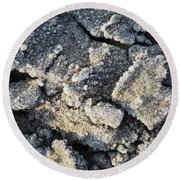 Frost Crystals  Round Beach Towel