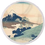 Fuji From Inume Pass Round Beach Towel