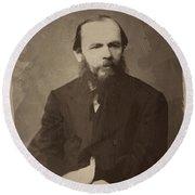 Fyodor Dostoevsky Round Beach Towel
