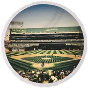 Game Day In Oakland Round Beach Towel