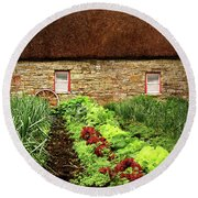 Garden Farm Round Beach Towel