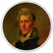 General Andrew Jackson Round Beach Towel