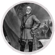 General Robert E. Lee Round Beach Towel