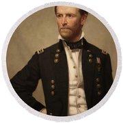 General William Tecumseh Sherman Round Beach Towel