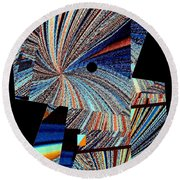 Geometric Abstract 1 Round Beach Towel