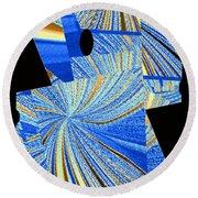 Geometric Abstract 2 Round Beach Towel