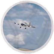 George Ford And Matt Beaubien In Friday Morning's Sport Class Signature Edition 16x9 Aspect Round Beach Towel