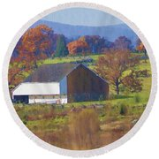 Gettysburg Barn Round Beach Towel by Bill Cannon