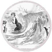 Gibson: Bather, 1902 Round Beach Towel