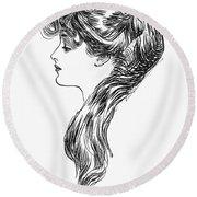 Gibson Girl, 1903 Round Beach Towel