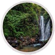 Git Git Waterfall - Bali Round Beach Towel
