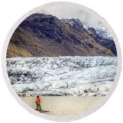 Glacier Lagoon Round Beach Towel