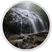 Glen Burney Falls Round Beach Towel
