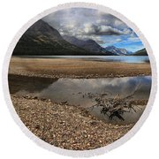 Goat Haunt Tide Pool Reflections Round Beach Towel