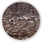 Goblin Valley 0206 Round Beach Towel