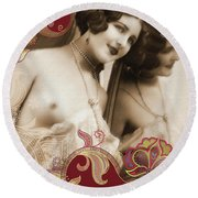 Goddess Round Beach Towel