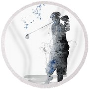 Golfer Round Beach Towel