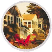 Goose Creek Beach Cottages Round Beach Towel