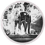 Goosebumps Round Beach Towel
