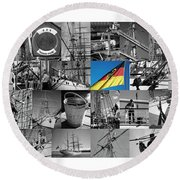 Gorch Fock 1958 Round Beach Towel