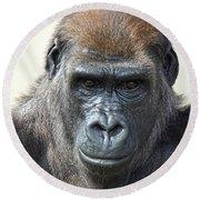 Gorilla 1 Round Beach Towel
