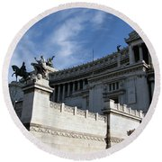 Government Building Rome Round Beach Towel