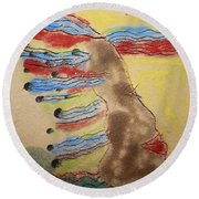 Grace - Tile Round Beach Towel