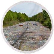 Graffiti Highway, Facing North Round Beach Towel