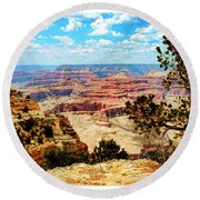 Grand Canyon Scenic Round Beach Towel