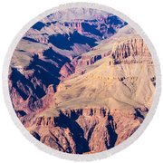 Grand Canyon Sunny Day With Blue Sky Round Beach Towel