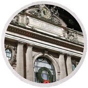 Grand Central Station New York City Round Beach Towel