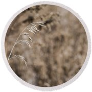 Grass Blade Round Beach Towel