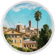 Grasse In Cote D'azur, France  Round Beach Towel