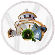 Greek Orthodox Church Round Beach Towel