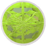 Green On Green Round Beach Towel