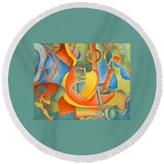 Grosse Guitare Round Beach Towel