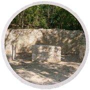Groupo Mecanxoc At The Coba Ruins  Round Beach Towel