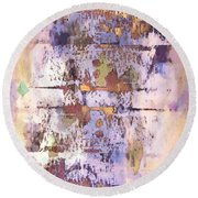 Grungy Abstract  Round Beach Towel