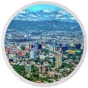 Guatemala City - Guatemala I Round Beach Towel