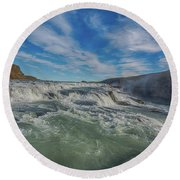Gulfoss. Round Beach Towel