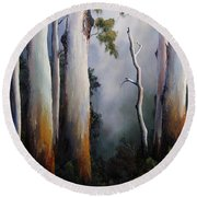 Gumtrees After The Rain Round Beach Towel