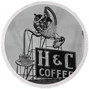H C Coffee Round Beach Towel