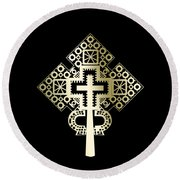Habesha Holy Cross Round Beach Towel