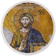 Hagia Sophia: Mosaic Round Beach Towel