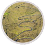 Haleakala Highway Round Beach Towel