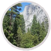 Half Dome  Round Beach Towel