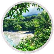 Hamoa Beach Hana Maui Hawaii Round Beach Towel