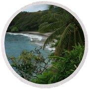 Hamoa Beach Maui Hawaii Round Beach Towel